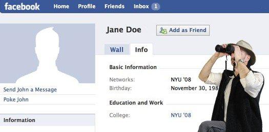 Stalking su Facebook