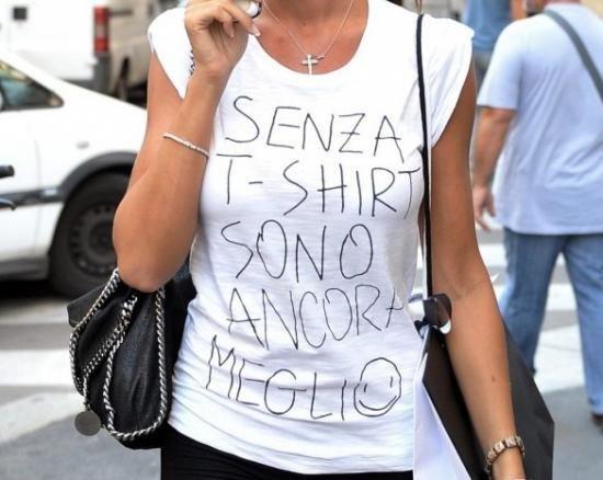 Magliette con frasi simpatiche: non c'è contraffazione