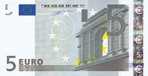 Ecco le nuove banconote da 5 euro