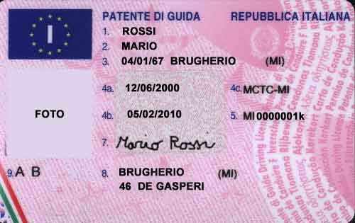 la patente equiparata alla carta di identit