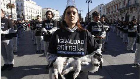 Madrid: protesta shock contro il maltrattamento degli animali. Le foto