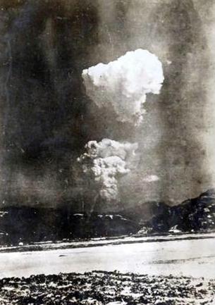 Hiroshima: immagine inedita del fungo atomico