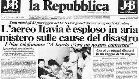 Ustica: fu un missile e non un'esplosione. Stato italiano responsabile