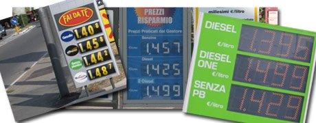 Distributori benzina: come cambiano i cartelloni. Prezzi più chiari e visibili su internet