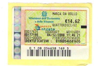 Giustizia: aumenta la marca da bollo da 8 a 25 euro