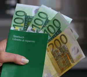Libretti di risparmio al portatore entro 999,99 euro