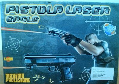 La pistola laser per bambini con laser dannoso: ritirata dal commercio