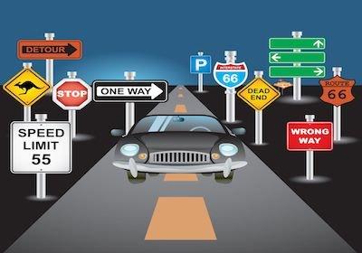 Se sbatti contro la segnaletica stradale: il risarcimento