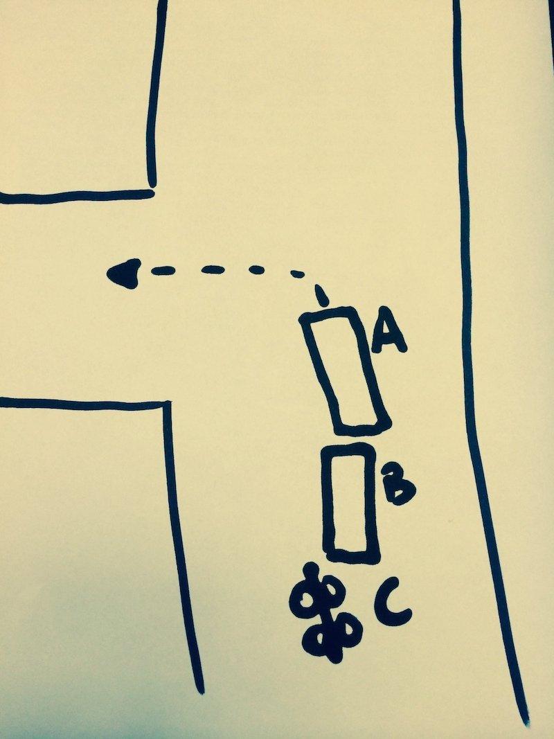 Sorpasso di un'auto che sta per svoltare a sinistra: la responsabilità