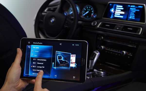 BMW touch control