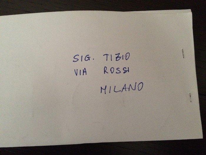 Come spedire una raccomandata senza busta per non far for Indirizzo postale