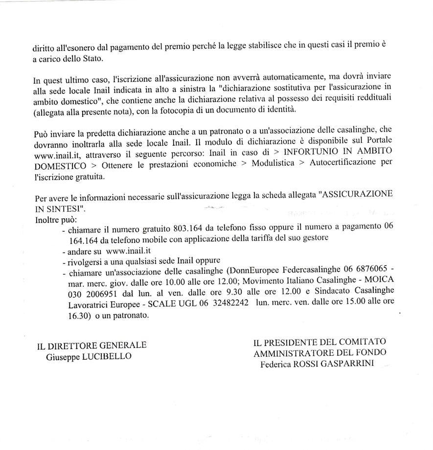Adessonews soloagevolazioni italia agevolazioni per l - Assicurazione casalinghe inail cosa copre ...