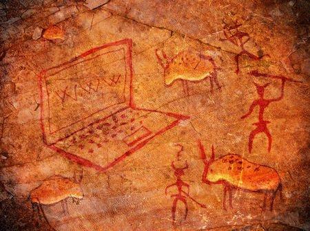 preistoria computer internet tecnologia caverna