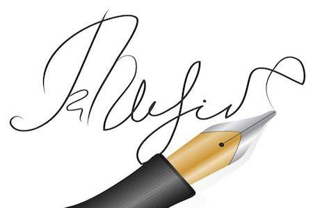 Se firmi un contratto con una sigla illeggibile e non per esteso