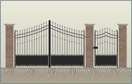 Scia per recinzioni muri di cinta e cancellate for Recinzioni in muratura per ville