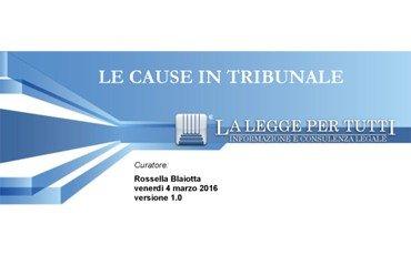 LE CAUSE IN TRIBUNALE – GLI EBOOK PRATICI DI LLpT