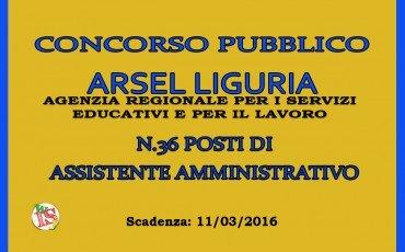 Concorso ARSEL per 36 assistenti amministrativi