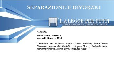 SEPARAZIONE E DIVORZIO – GLI EBOOK PRATICI DI LLpT