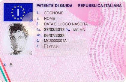 Foto patente di guida 24