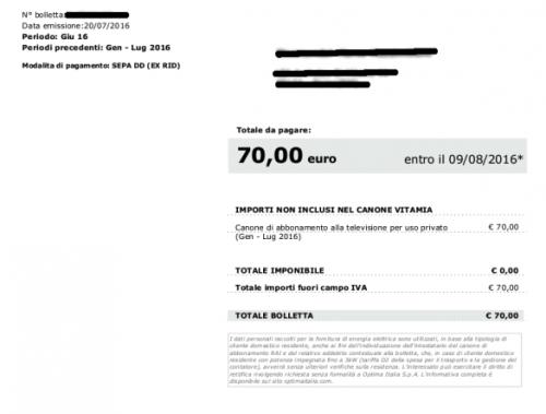 Canone Rai: se hai trovato in bolletta 80 euro e non 70
