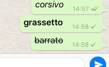Come formattare il testo in WhatsApp