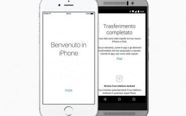 Trasferire rubrica e impostazioni da Android all'iPhone