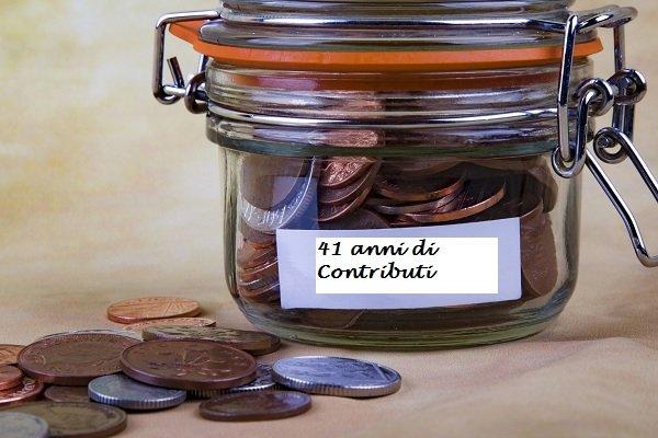 Pensione anticipata con 41 anni di contributi