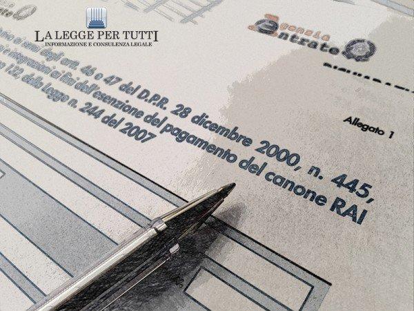 Esenzione canone rai anziani come richiederla for Canone rai 2017 importo