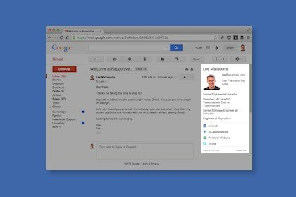 Visualizzare i profili di LinkedIn in Gmail