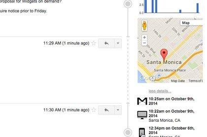 Spiare gli spostamenti di qualcuno con una email
