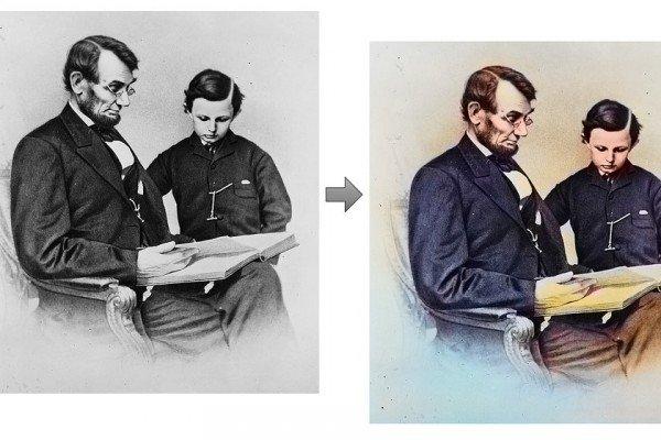 Colorare le vecchie foto in bianco e nero