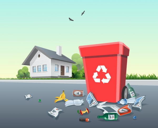 Rovesciare un cassonetto della spazzatura è reato