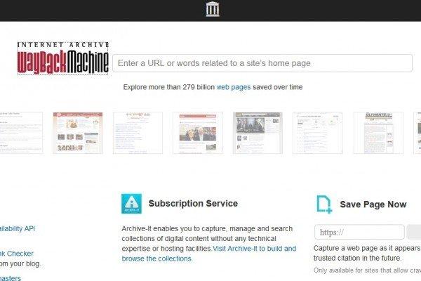 Come leggere le vecchie pagine dei siti web