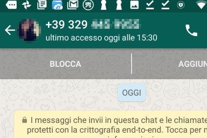 Inviare un messaggio WhatsApp a un numero non in rubrica