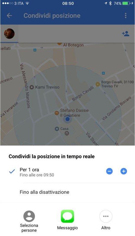 Google Maps: come condividere la posizione in iOS