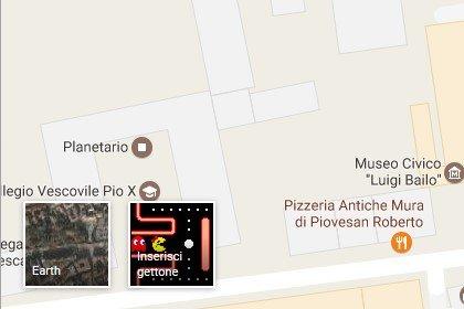 Giocare a Pac-Man sulla mappa della propria città