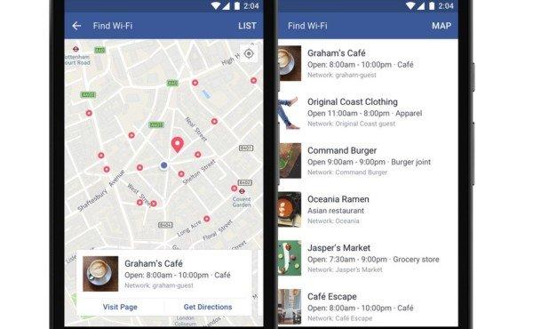 Trovare un Wi-Fi gratis nelle vicinanze con Facebook