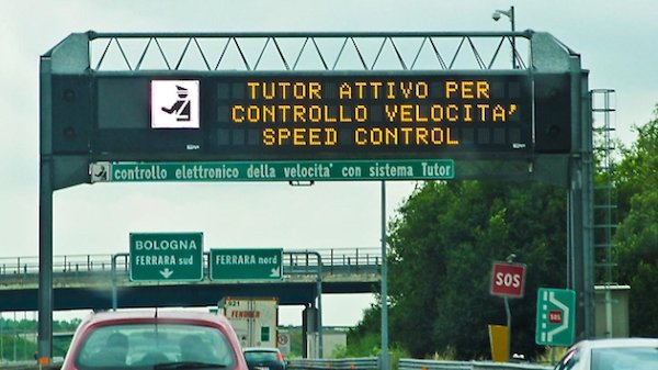 Addio tutor in autostrada