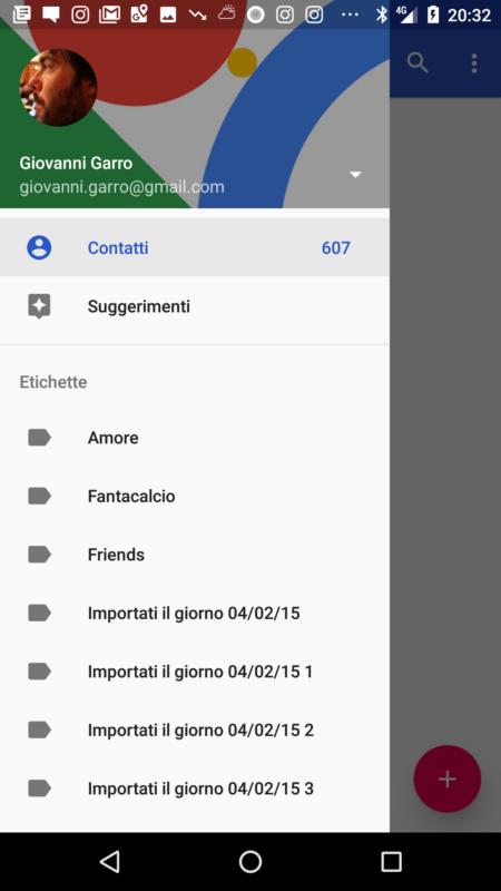 Cancellare i contatti doppi su android - Rubrica android colori diversi ...