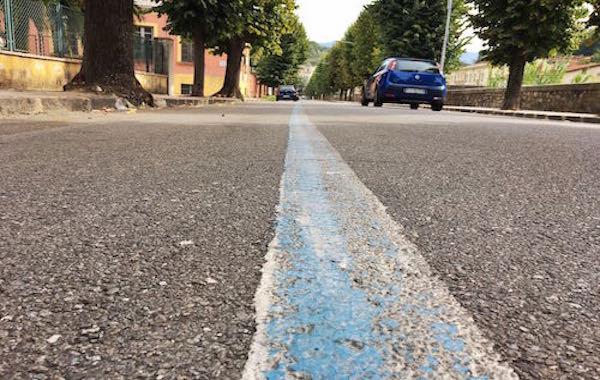 Multa per parcheggio fuori dalle strisce bianche