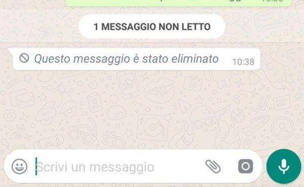 WhatsApp, come recuperare i messaggi eliminati