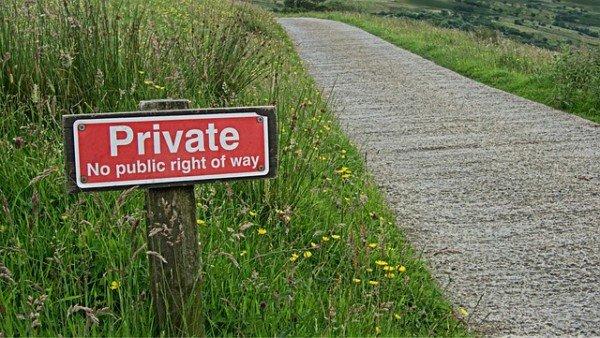Proprietà privata cartello: dove, come, quando?
