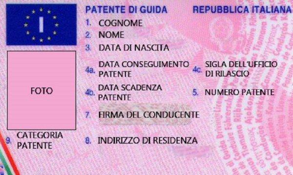 La patente equivale alla carta d'identità?