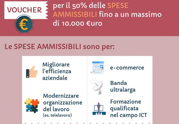 Voucher per la digitalizzazione di 10 mila euro per le pmi