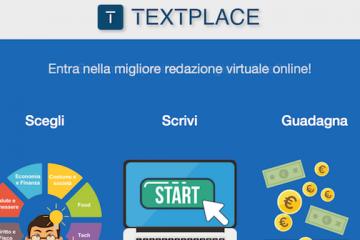 Nasce Textplace: la piattaforma per guadagnare senza vincoli