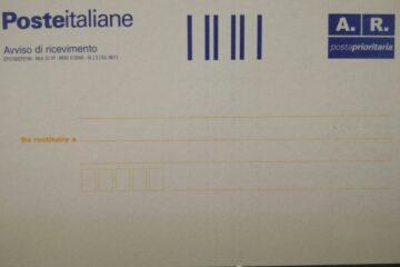 Prova invio raccomandata: la schermata di Poste Italiane ora fa fede