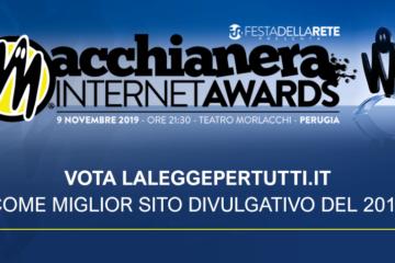 Premio Macchianera Awards: candida La Legge per Tutti come miglior sito divulgativo