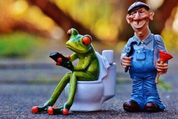 Pausa bagno sul lavoro