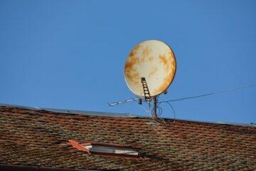 Parabola sul balcone