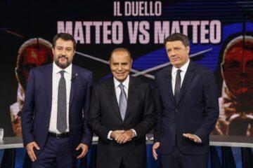 Scontro in diretta tv fra Renzi e Salvini